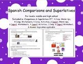 Spanish Comparisons, Equality, and Superlatives for High School