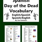Spanish Day of the Dead Vocabulary Reference - Dia de los Muertos