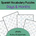 Spanish Days of the week and Months Puzzle, Magic Squares