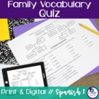 Spanish Family Quiz