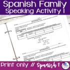 Spanish Family Speaking Activity 1