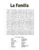 Spanish Family Wordsearch and Crossword Puzzle