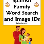 Spanish Family and Pets Word Search and Picture IDs - La Familia