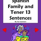 Spanish Family and Tener 6 Fill in the Blank, 13 Translations