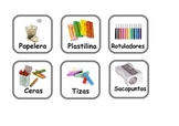 Spanish Flashcards SCHOOL ITEMS and some adjectives,verbs,