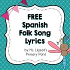Spanish Folk Song Lyrics