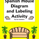 Spanish House Diagram and Labeling Activity - La Casa