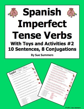 Spanish Imperfect Sentences with Gustar and Encantar - Toy