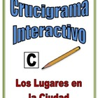 Spanish Interactive Crossword Puzzle: City Location Vocabulary