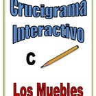 Spanish Interactive Crossword Puzzle: Room and Furniture V