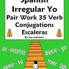 Spanish Irregular Yo Verb Pair Work Las Escaleras Activity