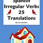 Spanish Irregular Yo Verbs with Days of the Week 25 Translations