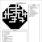 Spanish Math Crossword - Realidades - Para Empezar - Numbers 0-20