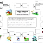 Spanish Numbers & Math Listening Activity - Football Theme