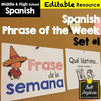 Spanish Phrase of the Week Posters