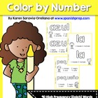 Spanish Pre-Kinder High Frequency Words (Dolch) Colorea la