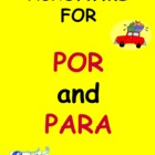 Spanish Prepositions Por & Para Acronym Signs