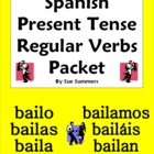 Spanish Verbs - Present Tense Regular Verbs 28 Page Bundle