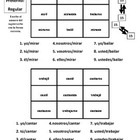 Spanish Preterite and Imperfect Verb Activities - Magic Squares