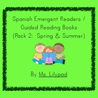 Spanish Printable Guided Reading Books for Spring and Summer
