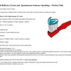 Spanish  Reflexive Forms and Sentence Speaking  Partner Talk