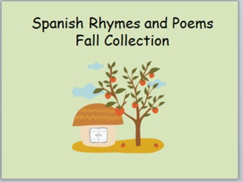 Spanish Rhymes/Poems for Fall - Dual Language Kindergarten/PreK