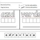 Spanish Sight Word Practice - colores y numeros