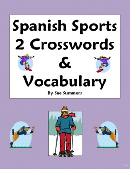 Spanish Sports 2 Crosswords Images & Word List - Substitut