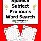 Spanish Subject Pronouns Word Search & Image IDs