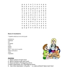 Spanish Thanksgiving Word Search