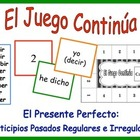 Spanish Verb Form Activity for Groups: Present Perfect, Re