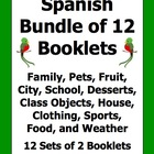 Spanish Vocabulary Emergent Readers Bundle - 12 Booklets /