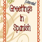 Spanish Vocabulary: Greetings.