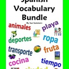 Spanish Vocabulary IDs - Bundle of 40 Worksheets Totaling