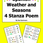 Spanish Weather and Seasons 4 Stanza Bilingual Poem - Las
