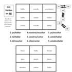 "Spanish ""ar"" Verb Activities - Magic Squares"