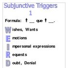 Spanish subjunctive triggers--Posters or Handouts