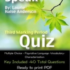 Speak Quiz: Third Marking Period