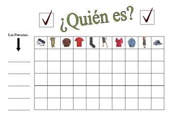 Speaking Activity with Clothing in Spanish- Involves Entire Class