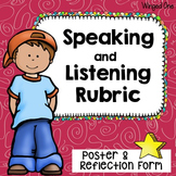 Speaking and Listening: Poster and Rubric {Student Self-As