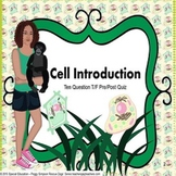 Special Needs Ed/ELD Biology Pre/Post Beginning Quiz Cell