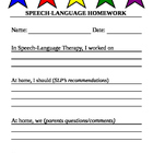 Speech Homework Stars (form)