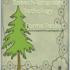 Speech Language Pathology Forms Packet