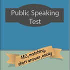 Speech, Public Speaking Test