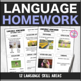 Speech Therapy 10 Month Language Homework Bundle