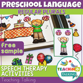Speech Therapy Activity: Freebie for Teaching Regular Plurals