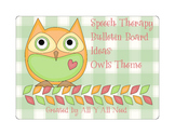 Speech Therapy Bulletin Board Ideas with a Fun Owls Theme