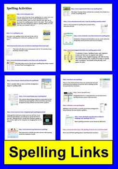 Spelling Activities and Literacy Centers Links - Technolog