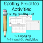 Spelling Activities for Any Spelling List
