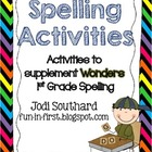 Spelling Activities for Wonders 1st Grade